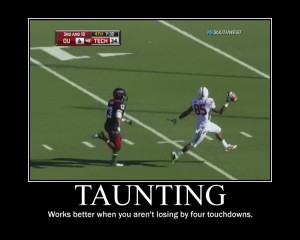 Taunting texas tech football Image