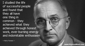 studied the life of successful people and found that they all have ...