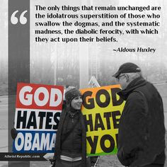 The only things that remain unchanged are the idolatrous superstition ...