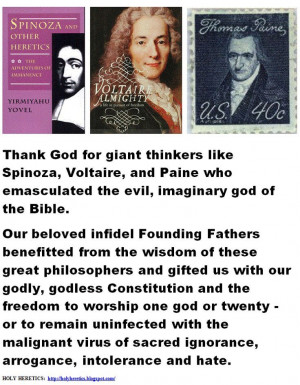 ... Thank God for giant thinkers like Spinoza, ... | Spinoza the heretic