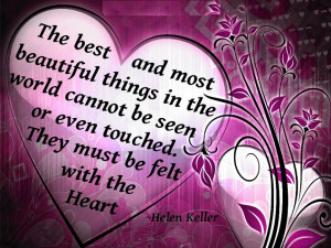Best Quote by Helen Keller with Image !!