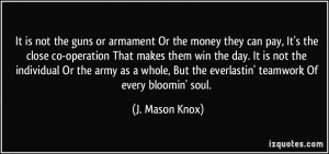 It is not the guns or armament Or the money they can pay, It's the ...