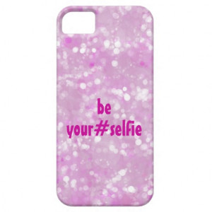 Girly Pink Be Yourself Selfie Hashtag Quote iPhone 5 Cover