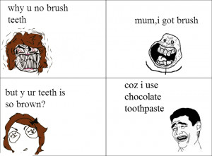 Troll Comics Funny Pics Why You Not Brush Your Teeth