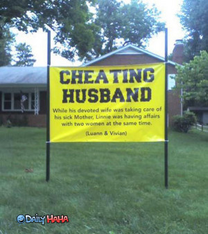 Cheating_Husband_Sign