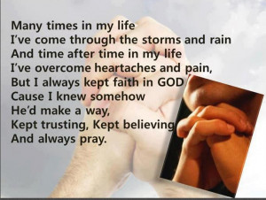 to share this very inspiring quote. Thank you father God being there ...