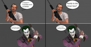 Injustice: Trevor Phillips vs The Joker by xXTrettaXx