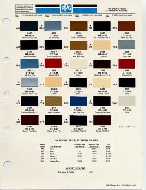 Dodge Ram Paint Color Chart