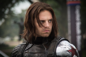 """Sebastian Stan as The Winter Soldier in """"Captain America: The Winter ..."""