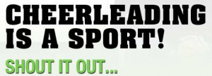 Is Cheerleading a Sport Quotes
