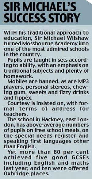 Under his reforms, 6,000 schools currently deemed 'satisfactory ...