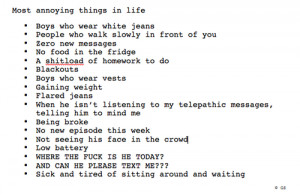 Most Annoying Things In Life