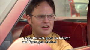 honor that actually this is angrytop twenty dwight schrute quotesthe