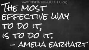 Inspiring Quotes: Amelia Earhart on Getting Things Done