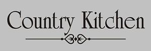 COUNTRY KITCHEN Vinyl Wall Quote Decal Family Home NEW! in Home ...