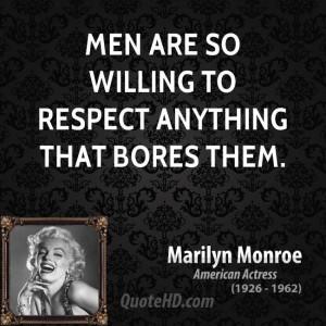 Marilyn Monroe Men Quotes