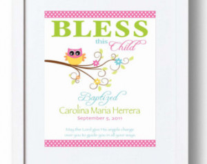 Baptism Gift for Baby Girl -Christening Gift -Baby Personalized Print ...