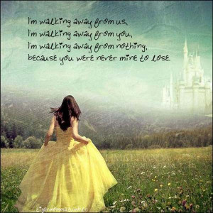 Walking Away Moving On Quote
