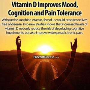Vitamin D Improves Mood, Cognition and Pain Tolerance-