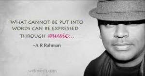 How do you feel when you hear A.R.Rahman's voice?