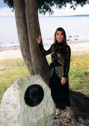 Jane Seymour poses next to the tree of her famous quote Is it You ...