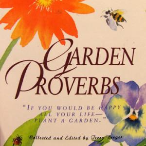Garden Proverbs Book