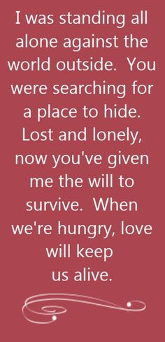 Eagles - Love Will Keep Us Alive - song lyrics, song quotes, songs ...
