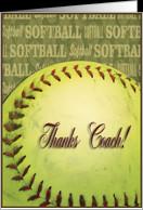 Thanks Coach!, Softball card - Product #394265