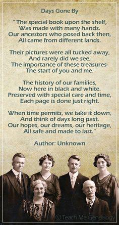 family scrapbook quotes   Beautiful Genealogy & Family History Poem