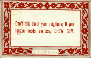 Chew Gum Phrases & Sayings
