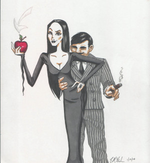 Addams Family Morticia And Gomez