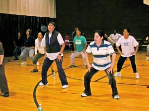 Aerobics at Roberto Clemente, 2008