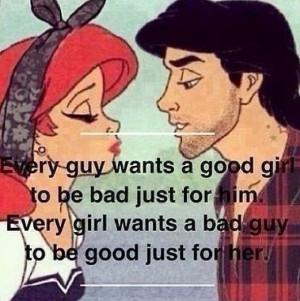 Good girls bad boys, Ariel and Eric