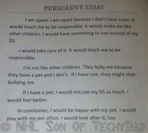 Quotes used in persuasive essays