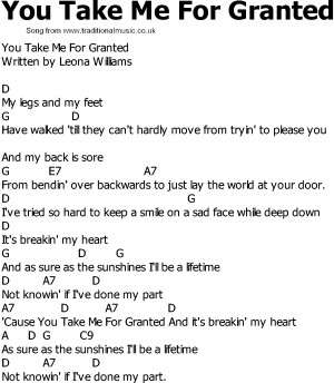 For granted quotes: j...