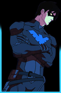 nightwing costume ebay , nightwing young justice costume ,
