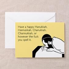 Happy Hanukkah Greeting Card for