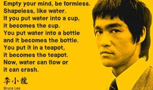 bruce lee flow motivation picture quote