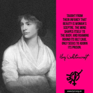 Mary Wollstonecraft: writer and philosopher.