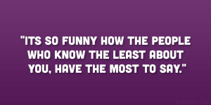 Nosey People Quote