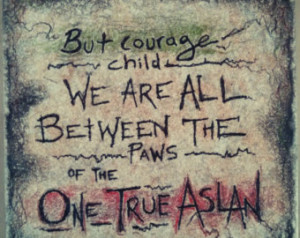 CS Lewis, Narnia Quote on 6x6 ceramic tile with wall mount