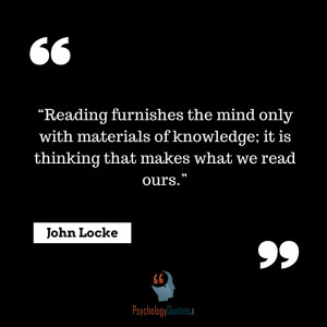 Reading furnishes the mind only with materials of knowledge; it is ...