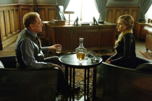 Still of Julie Benz and William Atherton in Defiance (2013)