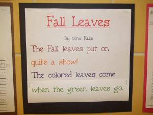 Fall leaves poem Autumn Season Poems