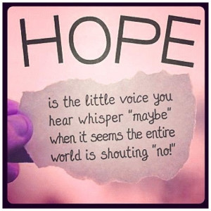 Hope Quote World is shouting