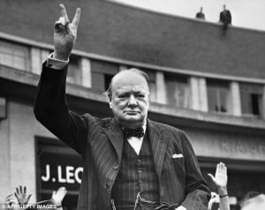 ... leaders such as Sir Winston Churchill or Margaret Thatcher are born