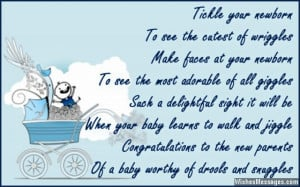 poems congratulations new baby boy