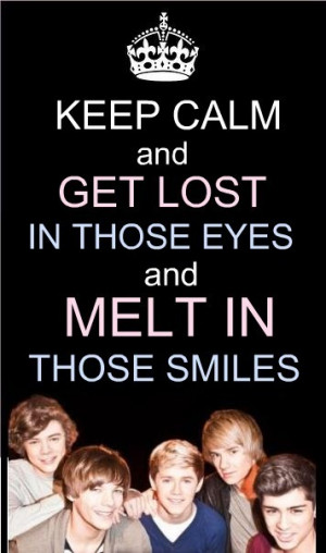 One Direction 1D = Heartthrobs! Keep Calm & Get Lost In Their Eyes ...