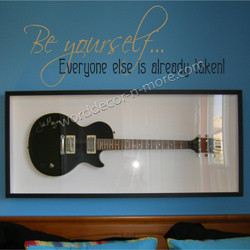 1050 be yourself teen wall quote remind your tweens and teenagers how ...