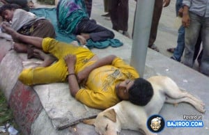 Funny Indian Boy Sleeping on A Dog Using it as Pillow, funny Indian ...